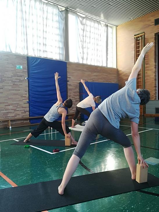 Yoga Sommerkurs outdoor mit Petra Teil2